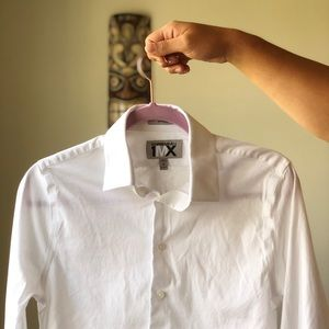 Express 1MX fitted white shirt